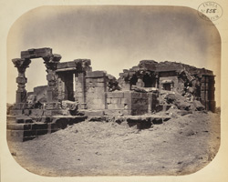 General view from the north-east of the remains of the second temple at Dhotra, Buldana District, Berar.